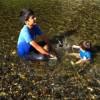 親子、共に成長中!奈良県天川村で川遊び
